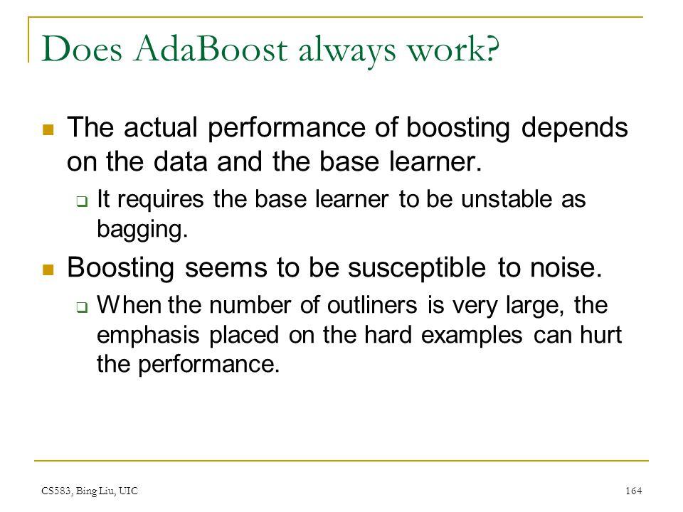 Does AdaBoost always work
