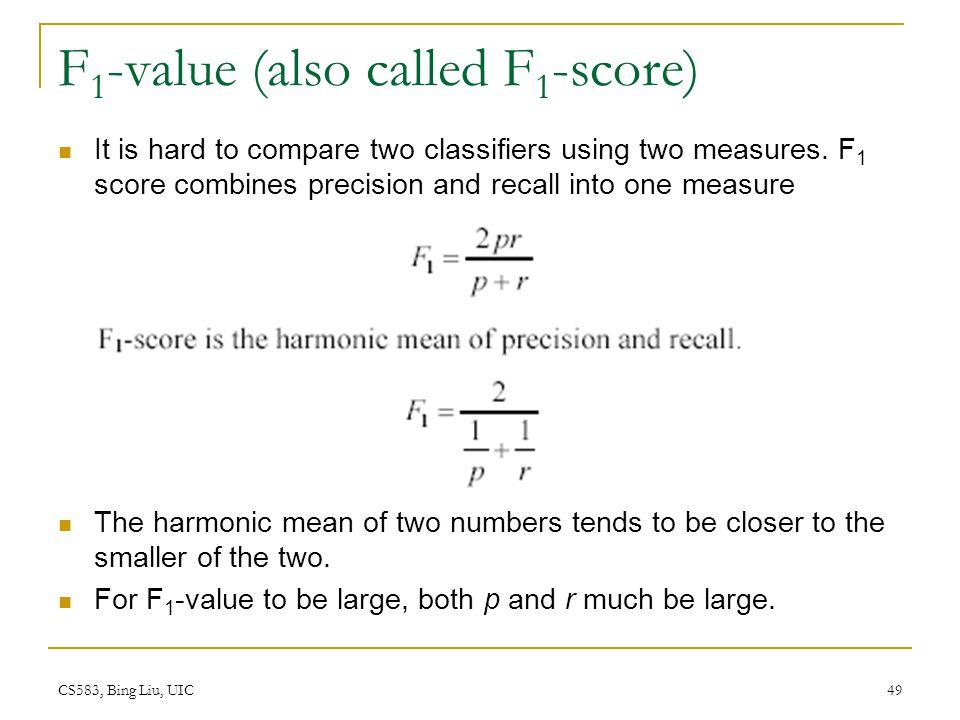 F1-value (also called F1-score)