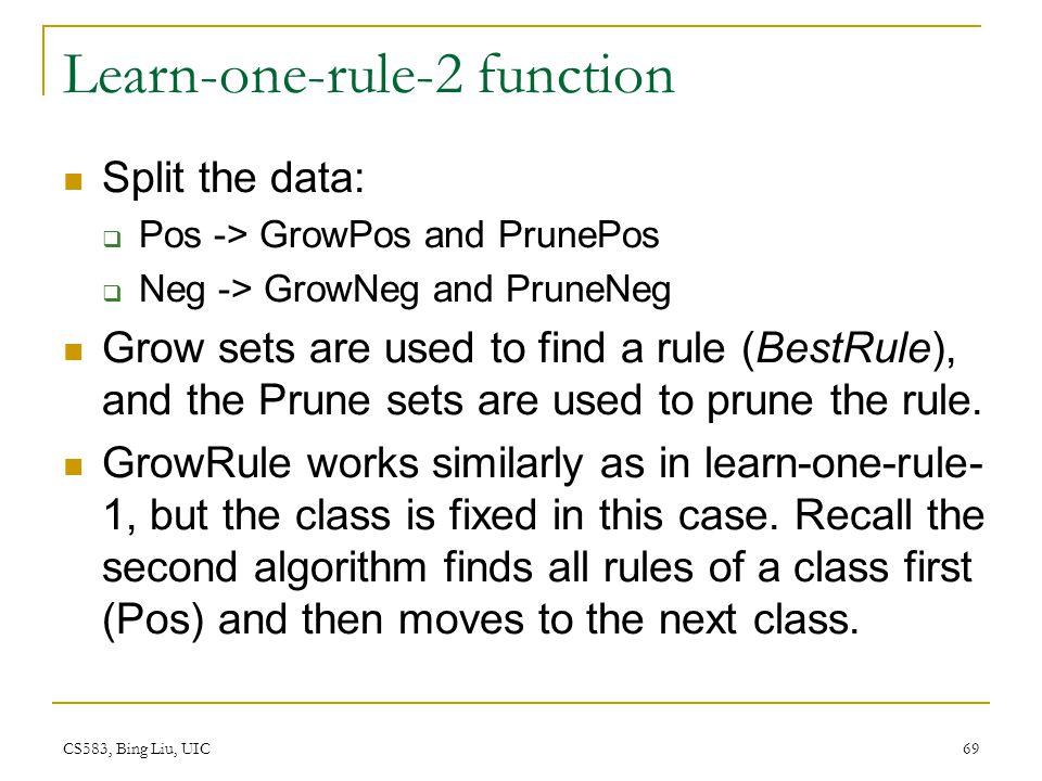 Learn-one-rule-2 function