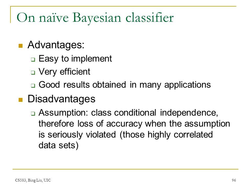 On naïve Bayesian classifier