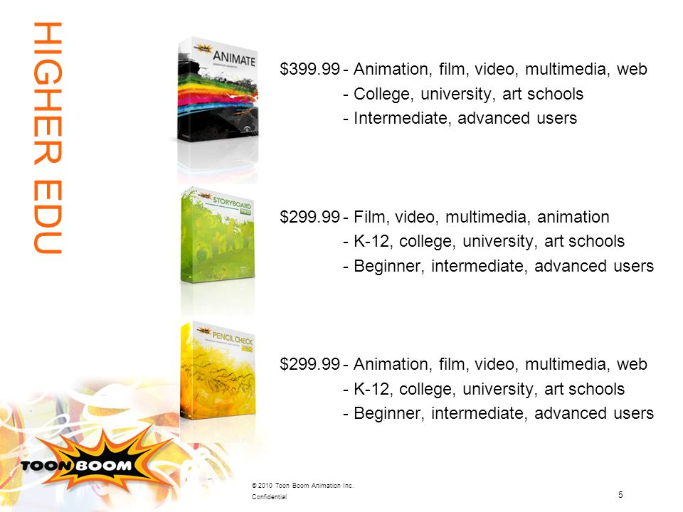 HIGHER EDU $ Animation, film, video, multimedia, web