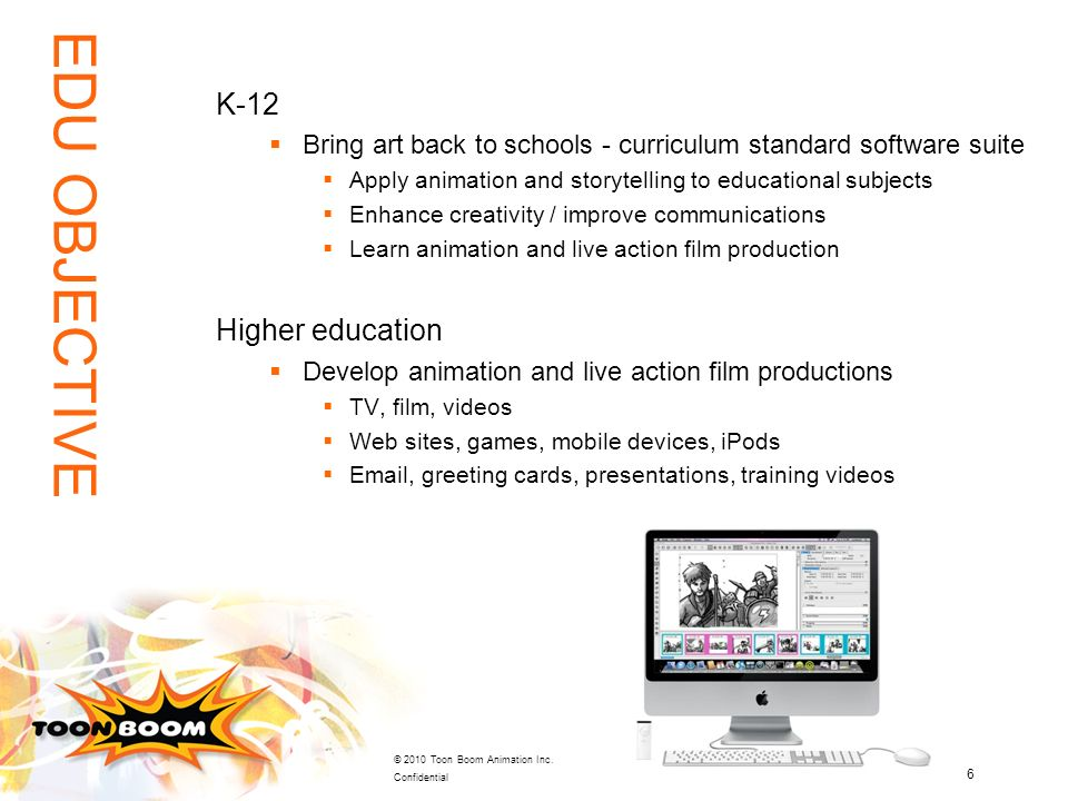EDU OBJECTIVE K-12 Higher education