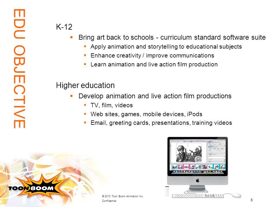 EDU OBJECTIVE K-12 Higher education