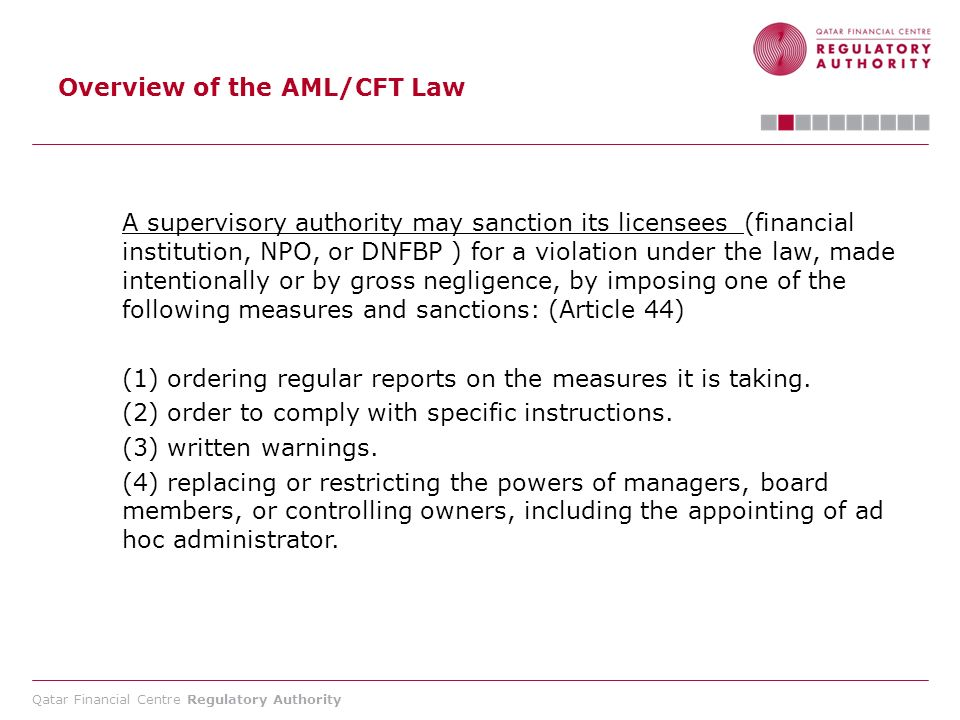 Overview of the AML/CFT Law