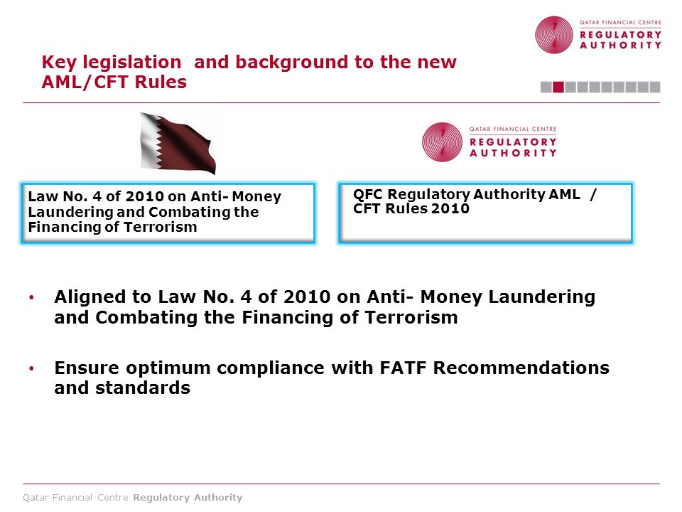 Key legislation and background to the new AML/CFT Rules
