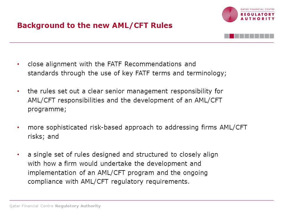 Background to the new AML/CFT Rules