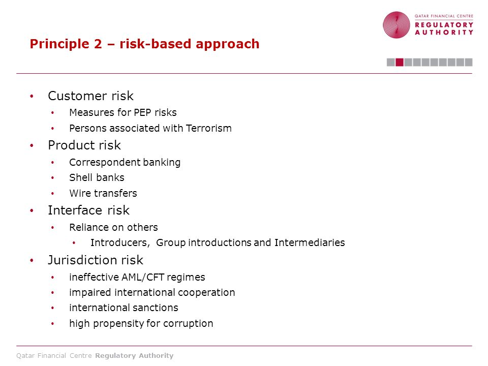 Principle 2 – risk-based approach