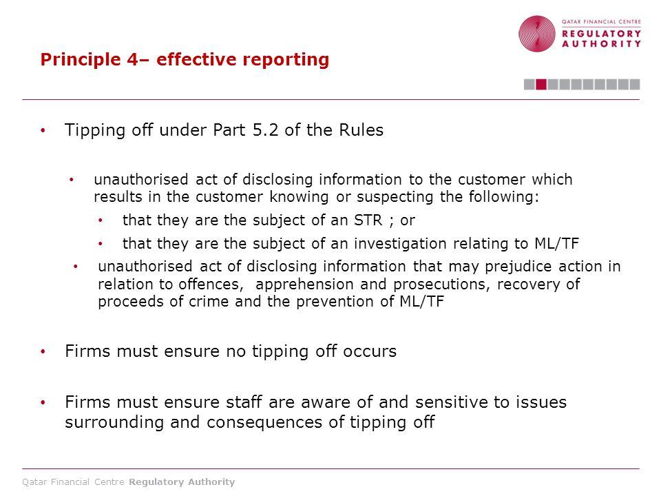 Principle 4– effective reporting