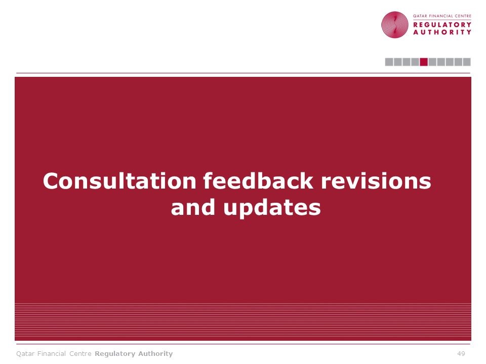 Consultation feedback revisions and updates