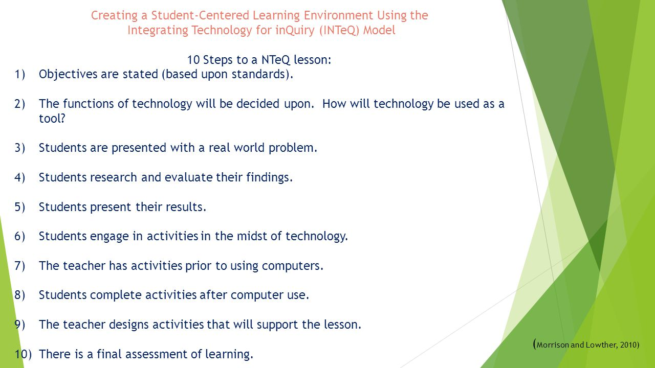 Creating a Student-Centered Learning Environment Using the