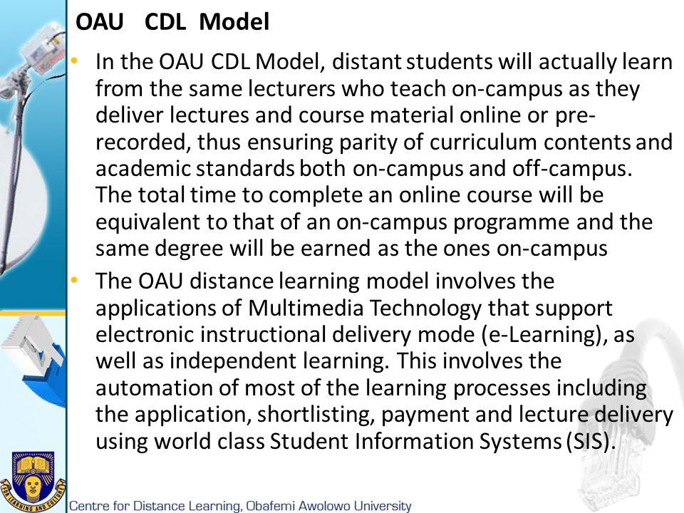 OAU CDL Model