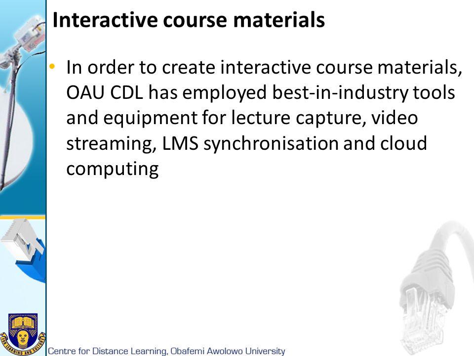 Interactive course materials