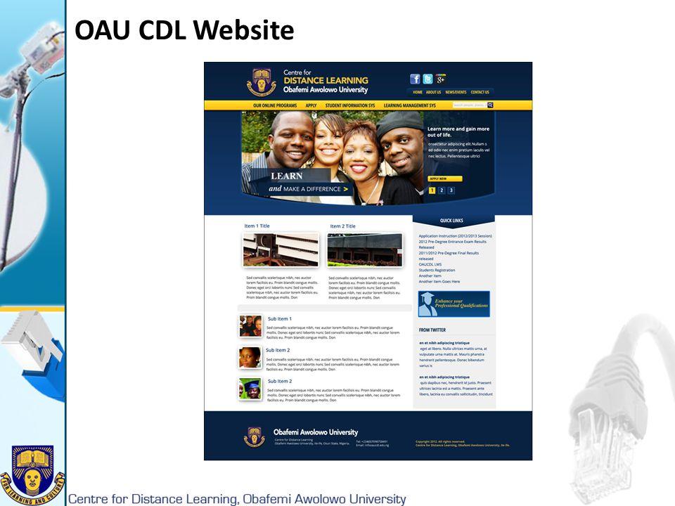 OAU CDL Website