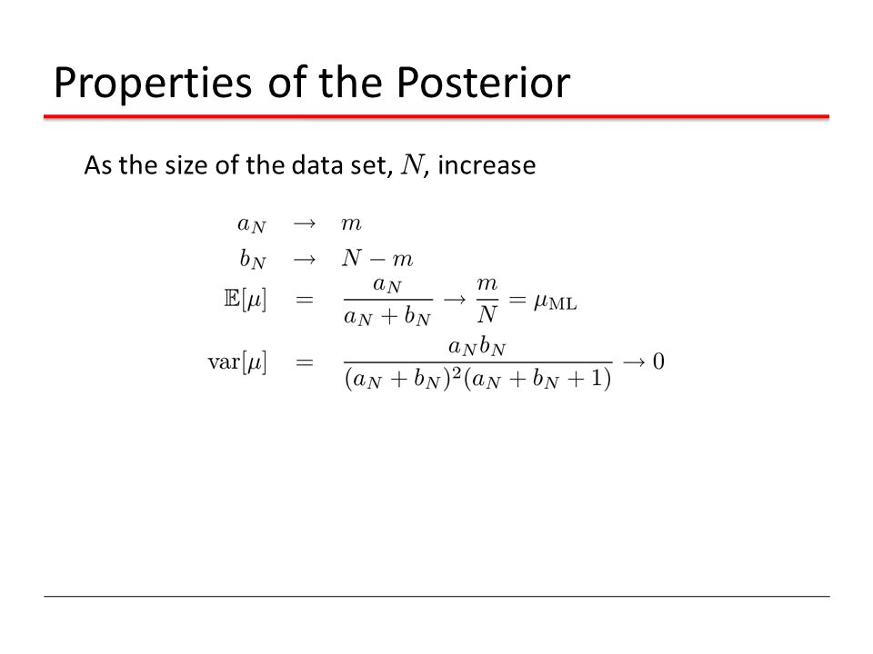 Properties of the Posterior