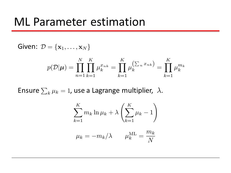 ML Parameter estimation