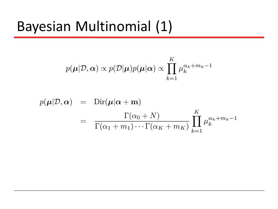 Bayesian Multinomial (1)