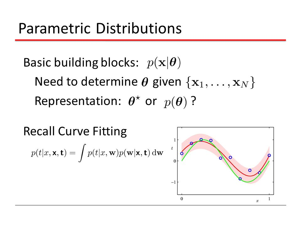 Parametric Distributions