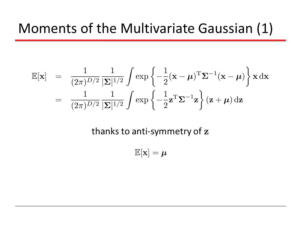 Moments of the Multivariate Gaussian (1)