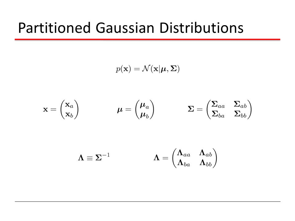 Partitioned Gaussian Distributions