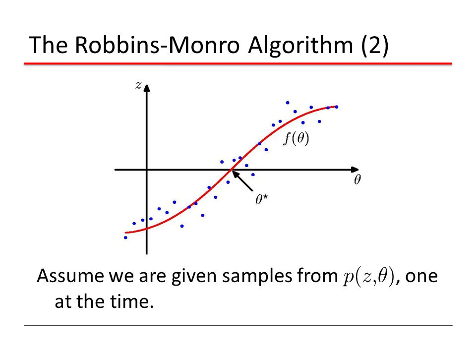 The Robbins-Monro Algorithm (2)