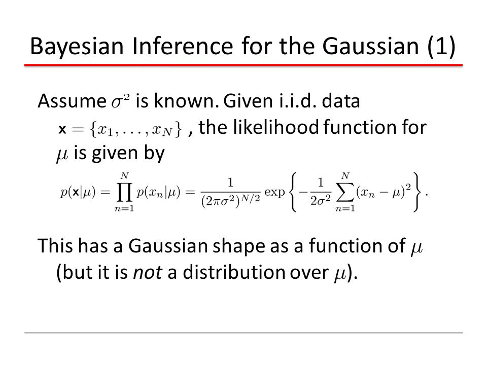 Bayesian Inference for the Gaussian (1)