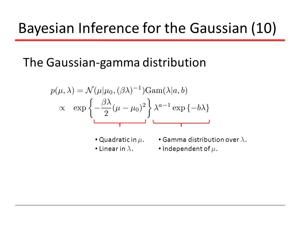 Bayesian Inference for the Gaussian (10)