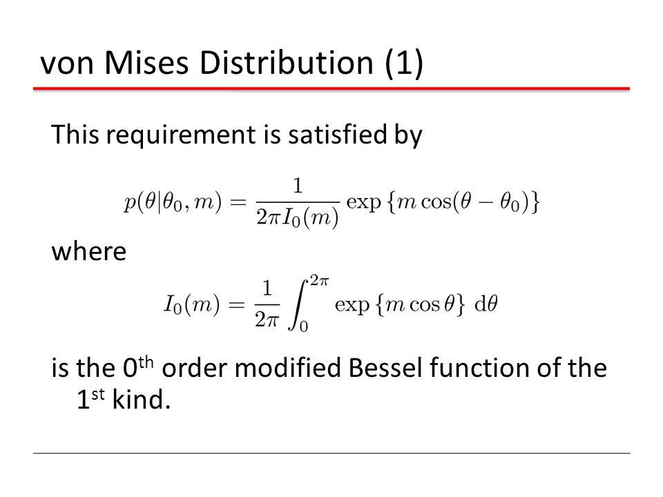 von Mises Distribution (1)
