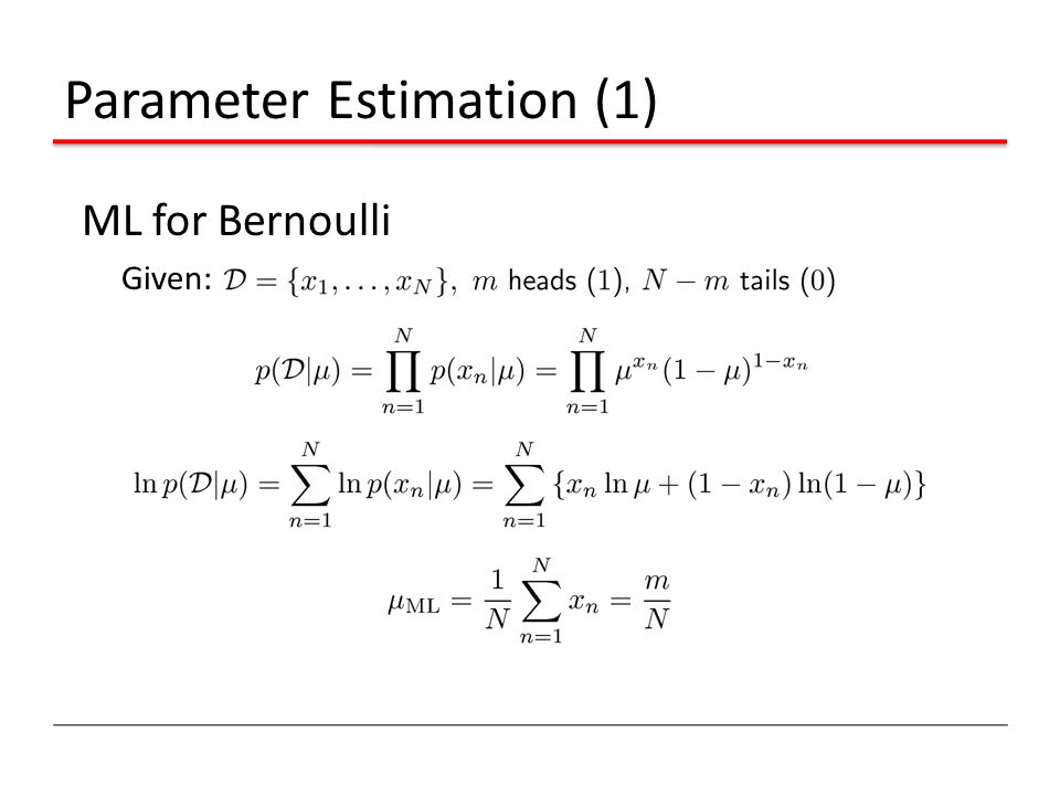 Parameter Estimation (1)