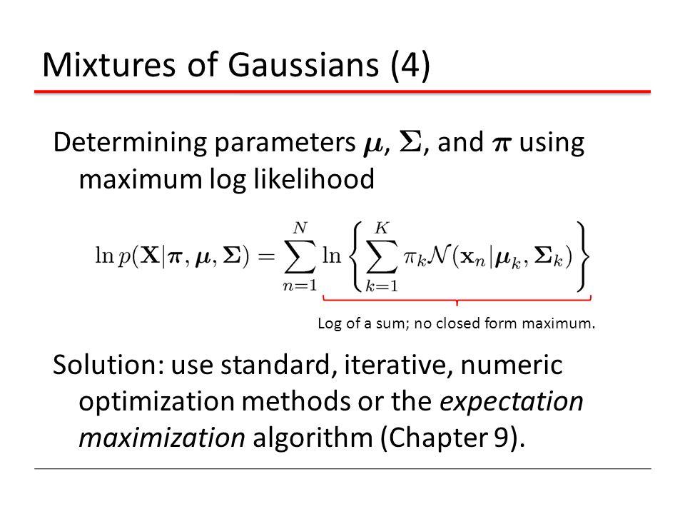 Mixtures of Gaussians (4)