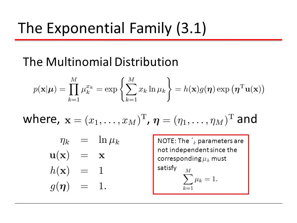 The Exponential Family (3.1)