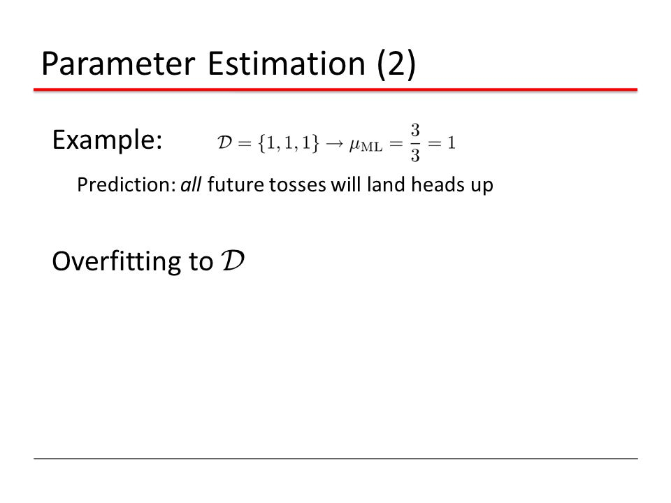 Parameter Estimation (2)