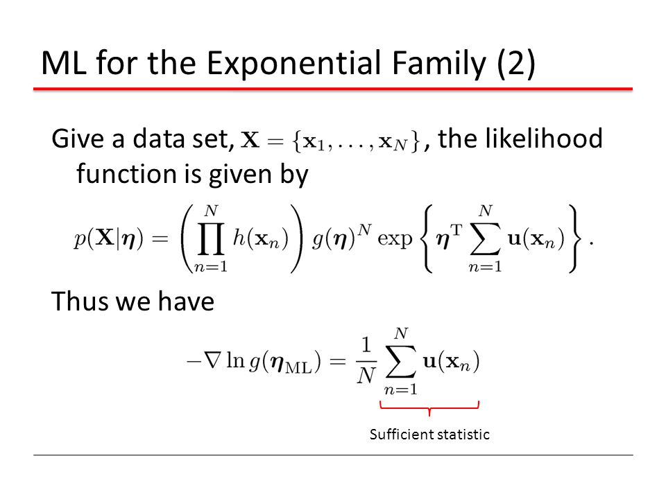 ML for the Exponential Family (2)