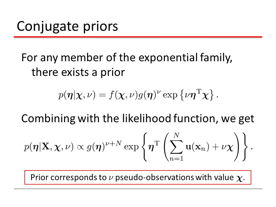 Prior corresponds to º pseudo-observations with value Â.