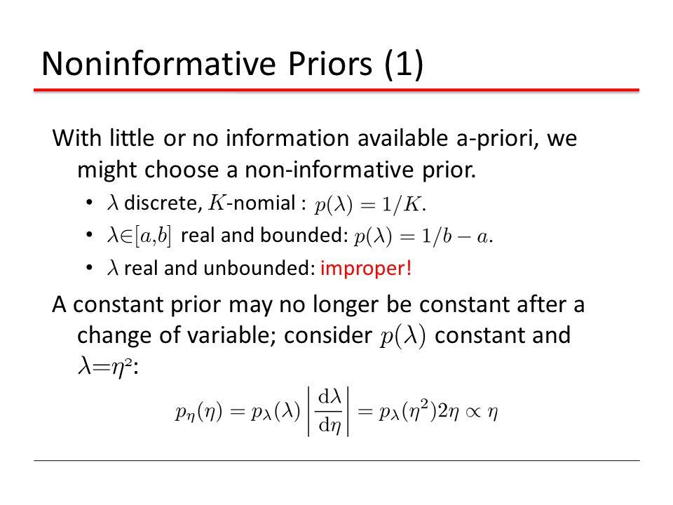 Noninformative Priors (1)