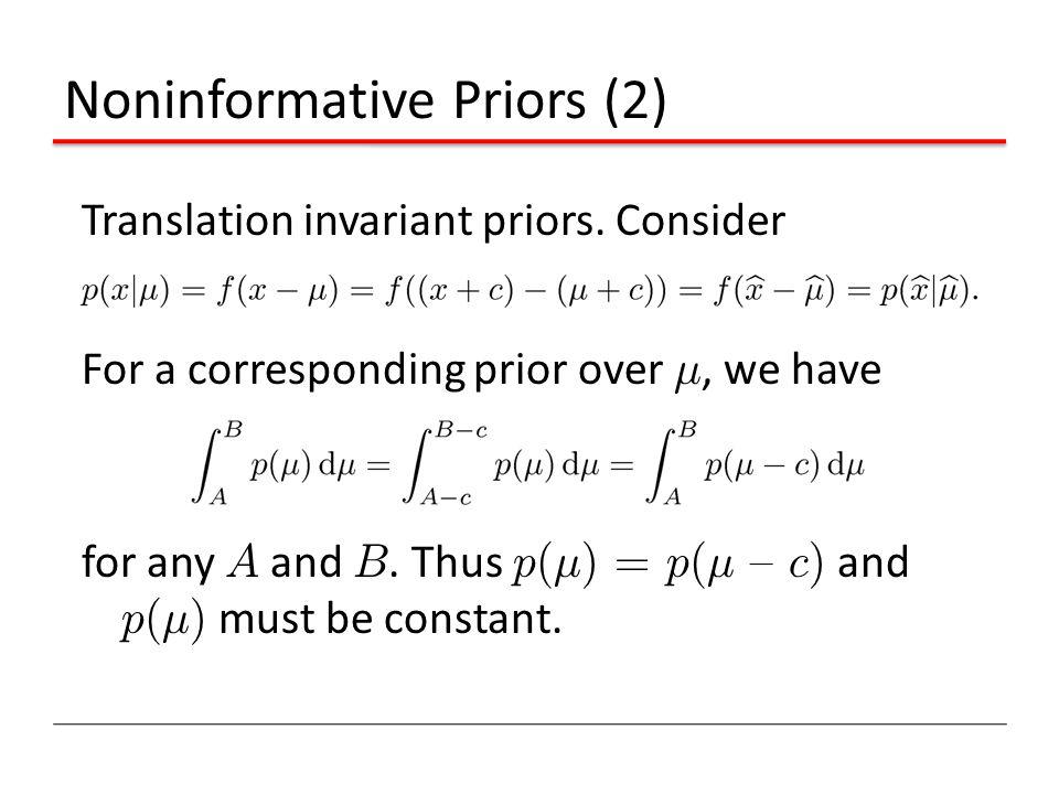 Noninformative Priors (2)