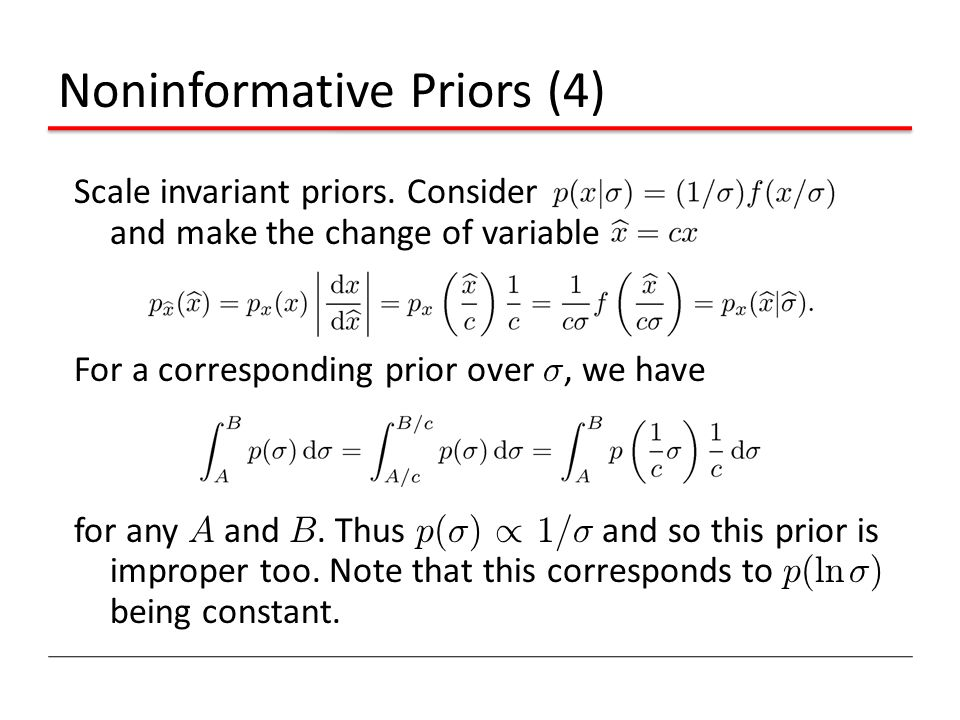 Noninformative Priors (4)