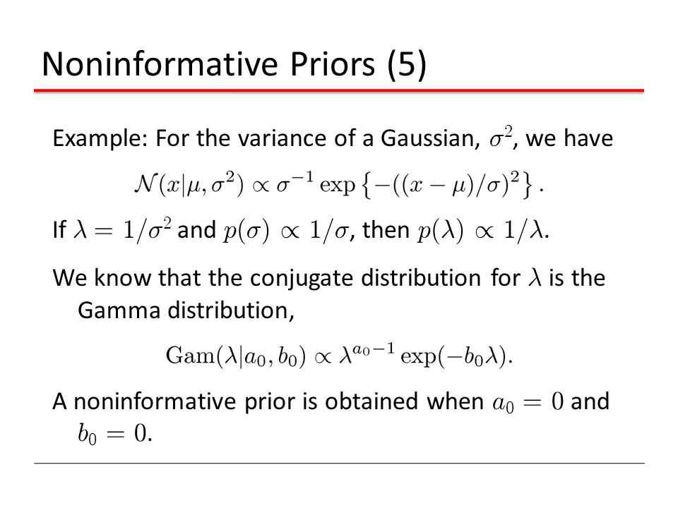 Noninformative Priors (5)