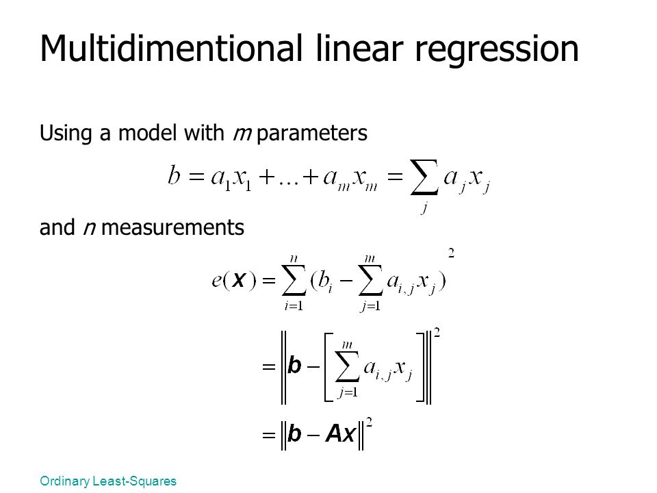 Multidimentional linear regression