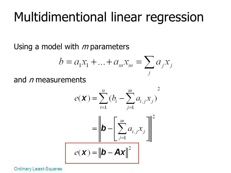 Multidimentional linear regression