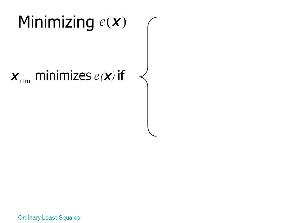 Minimizing Ordinary Least-Squares