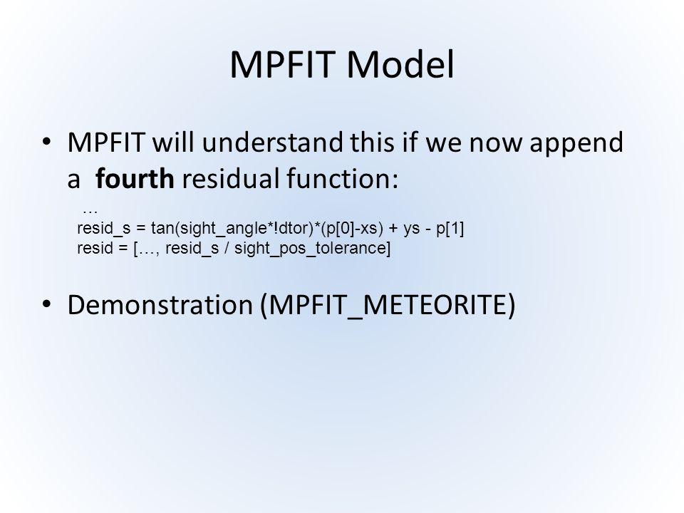 MPFIT Model