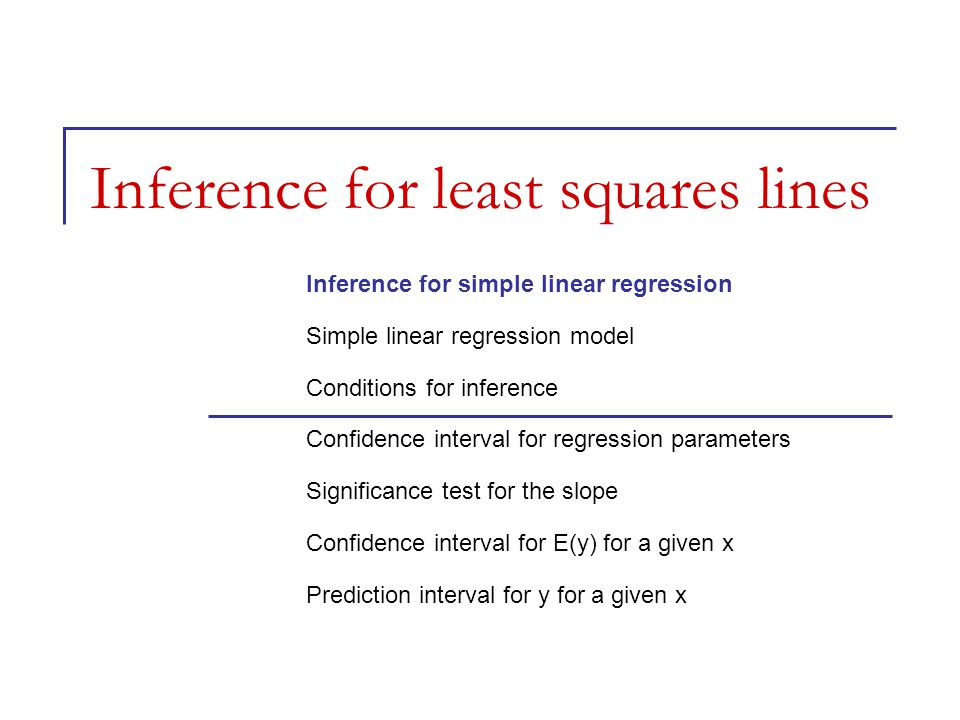 Inference for least squares lines