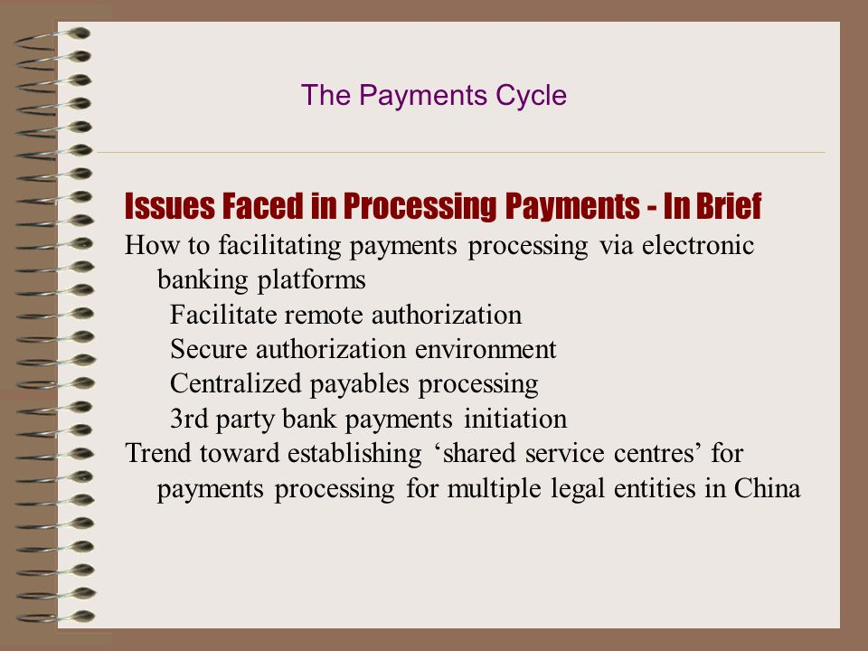 Issues Faced in Processing Payments - In Brief