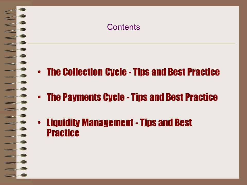 The Collection Cycle - Tips and Best Practice