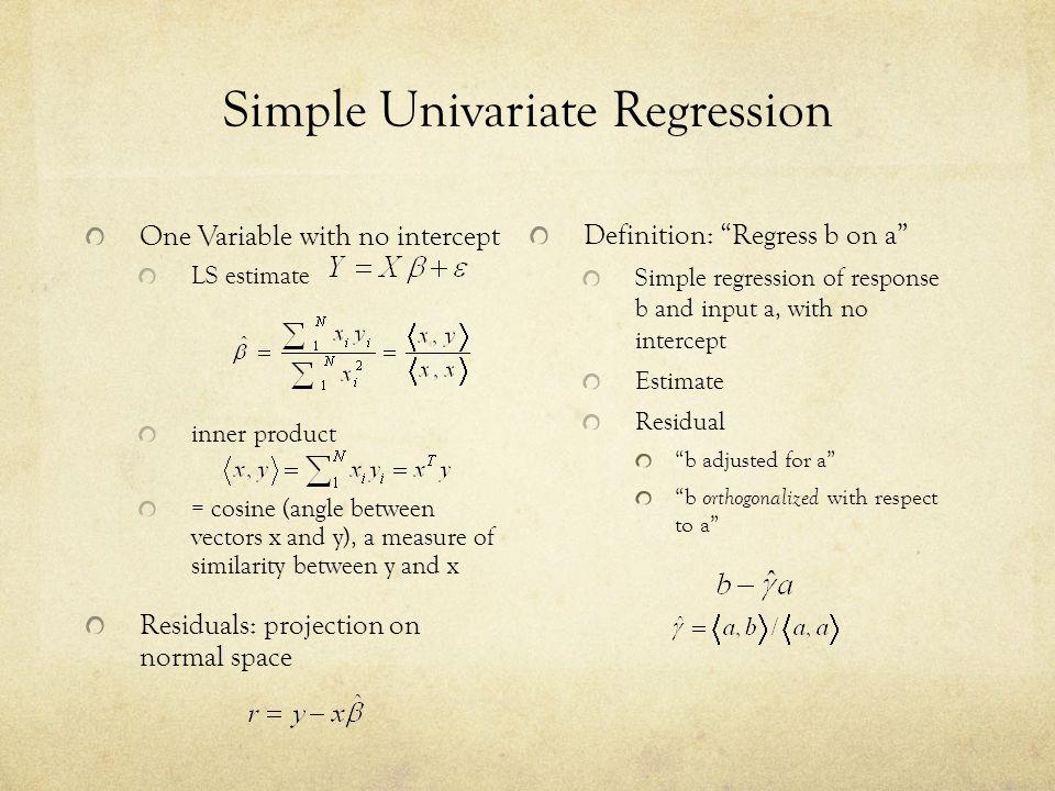 Simple Univariate Regression