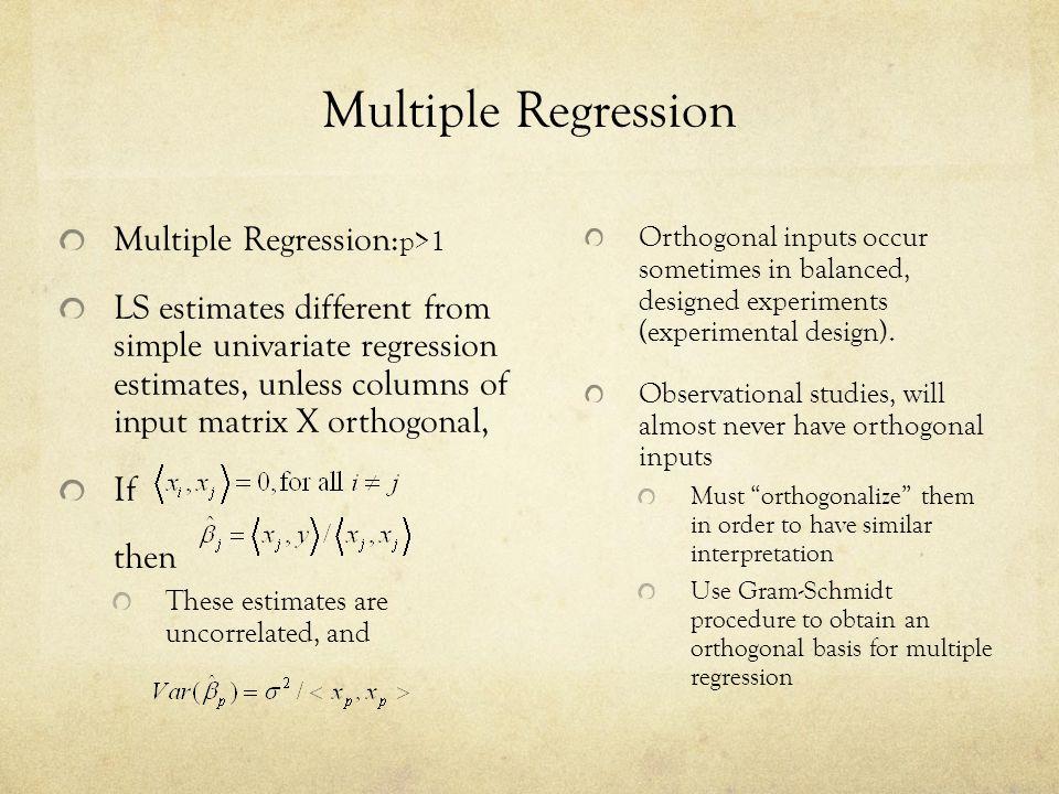 Multiple Regression Multiple Regression:p>1
