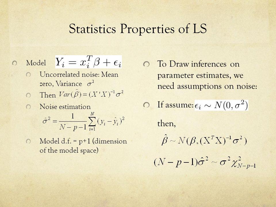 Statistics Properties of LS