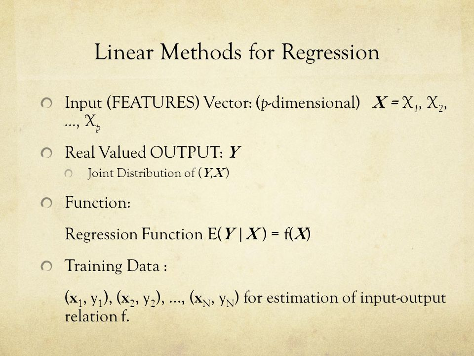 Linear Methods for Regression