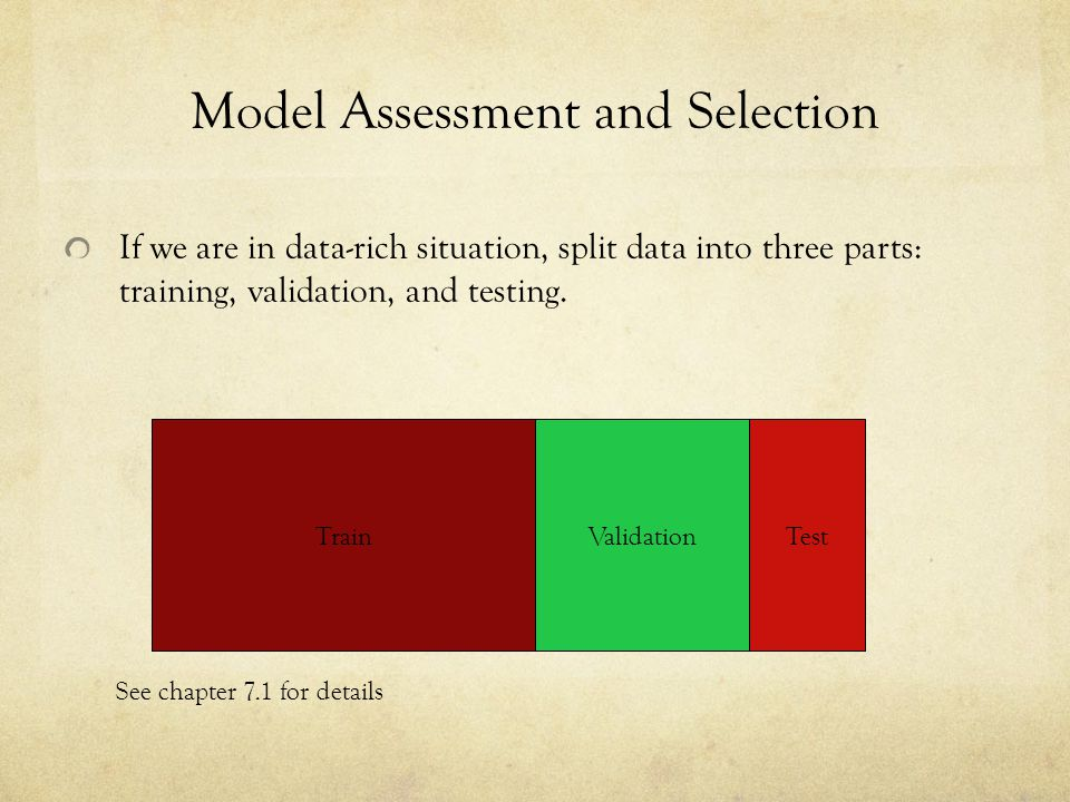 Model Assessment and Selection