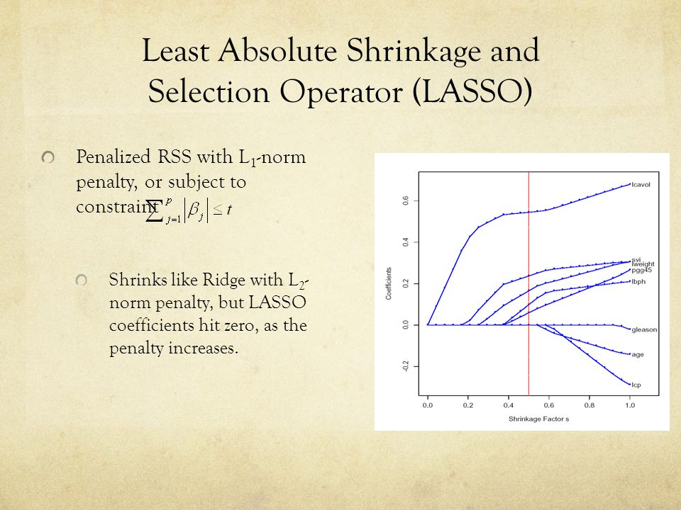 Least Absolute Shrinkage and Selection Operator (LASSO)